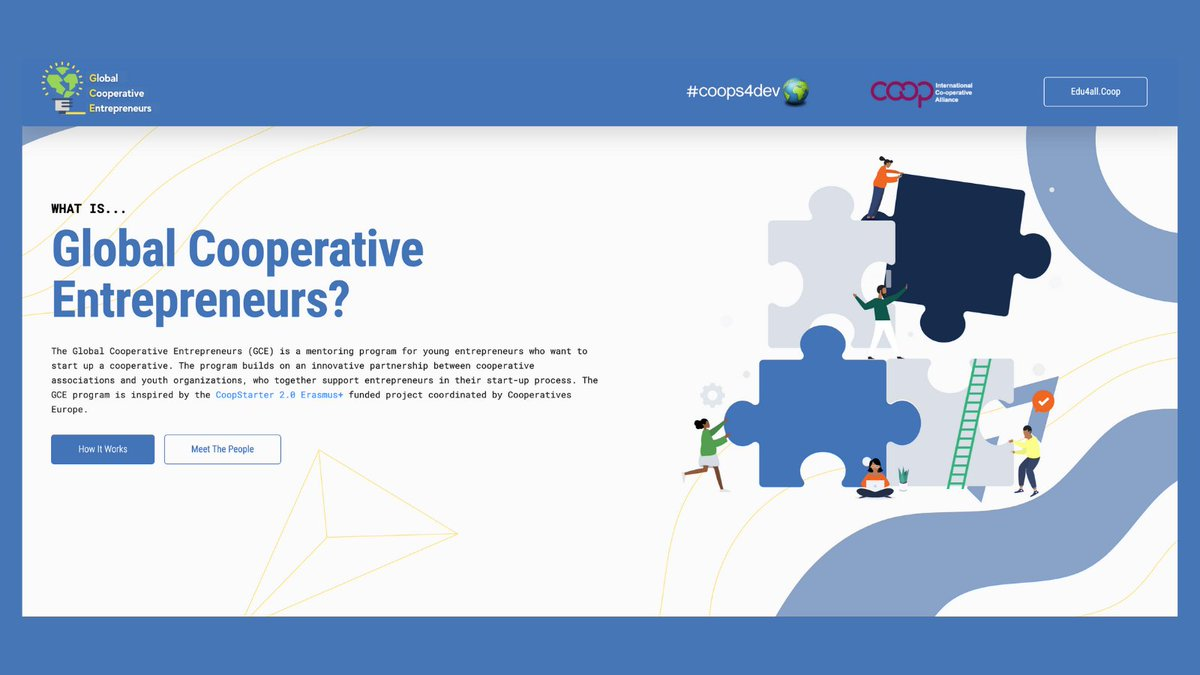 Have you heard of #GCEcoops - Global Cooperative Entrepreneurs?  This #coops4dev🌍 programme was inspired by our own #CoopStarter 2.0.   🚀Now, young cooperators can receive tools and skills from #coopmentors to kick-off their start-ups, globally.   👉https://t.co/pyal3DLuaM