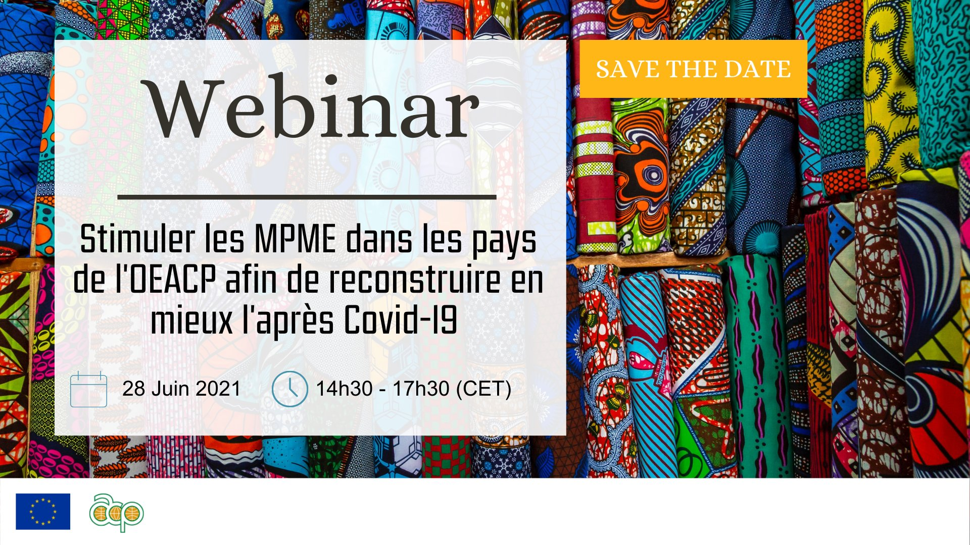 webinar SMEs in ACP countries - to rebuild after Covid19