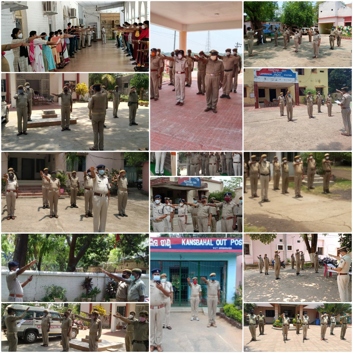 All police personnel of Sundargarh district took oath today, on Anti Terrorism Day to continue to fight against divisive acts of terrorism. #antiterrorism must be the motto of every democracy. @DGPOdisha @odisha_police @digwrrkl @sagarika_nath https://t.co/N8oBmdWENr