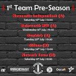 Image for the Tweet beginning: 🚨The 1st team pre-season schedule