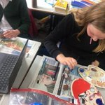 Image for the Tweet beginning: Year 6 getting creative with