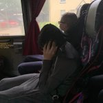 Apparently Miss Carroll's singing is not appreciated on the coach!