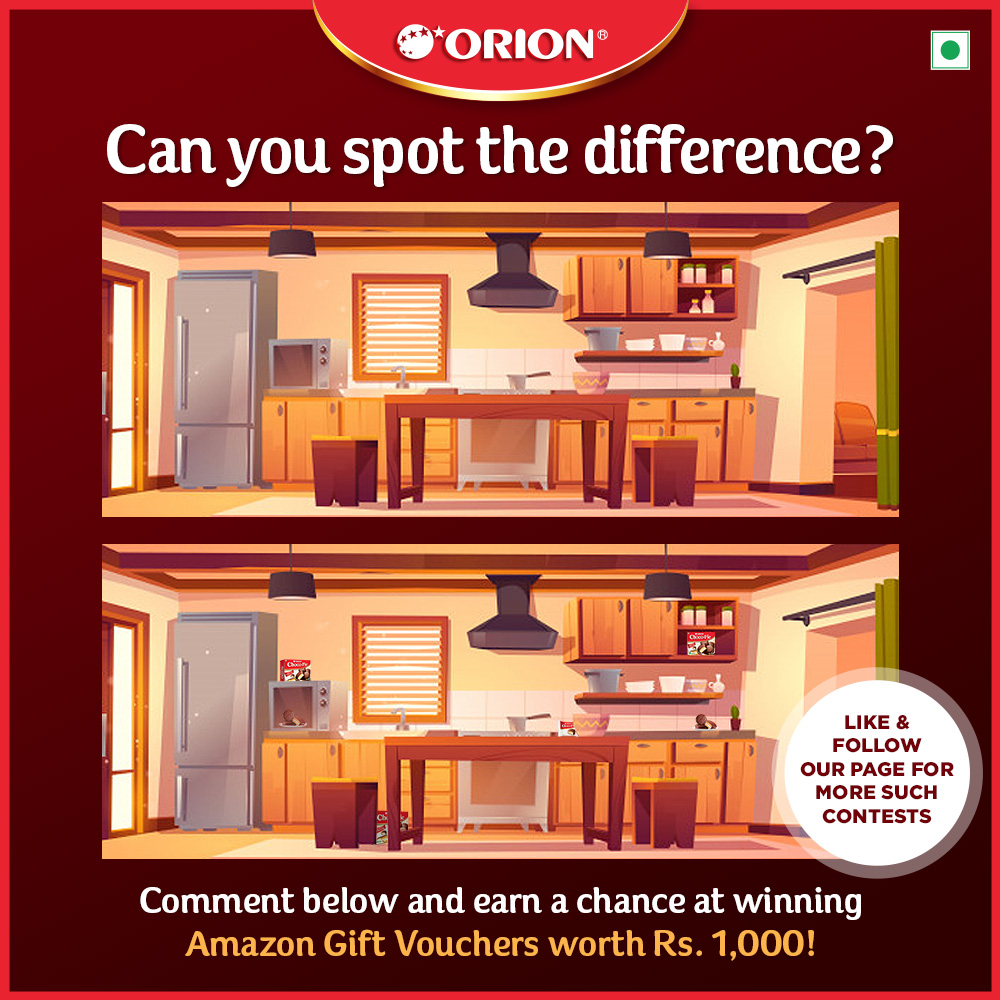 Can you spot that sweet difference between the two pictures? Tell us and earn a chance to win #AmazonGiftVouchers worth Rs. 1,000! Get your detective mode on with #OrionChocoPie and your #FriendsLikeFamily. . . . . . . #pies #choco #chocolate #pie #stayhome #staysafe #mentalpeace https://t.co/UtaxBolhPq