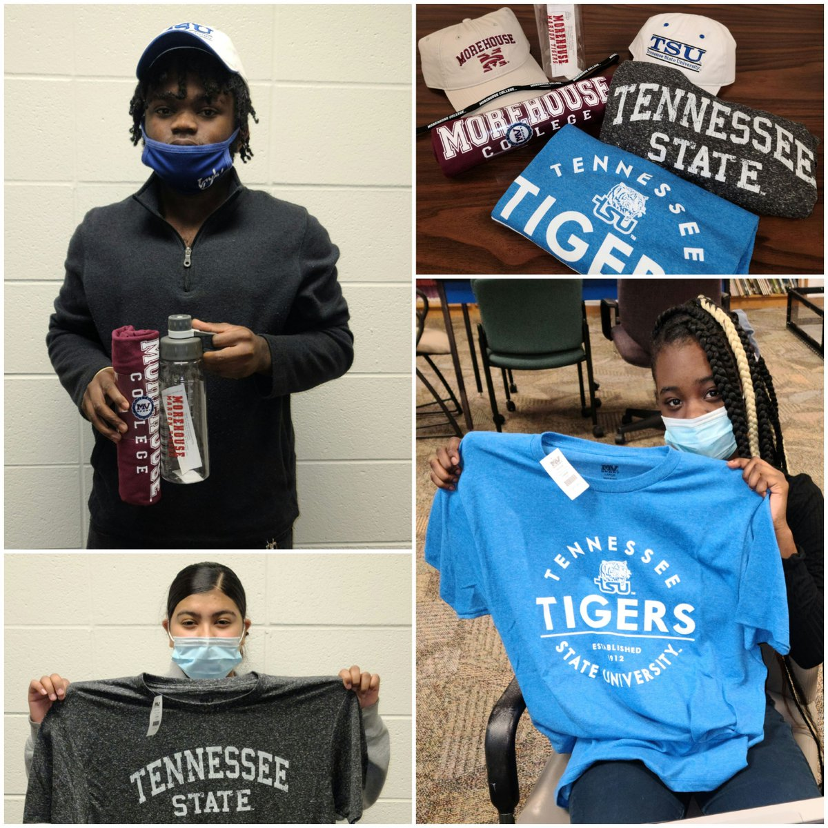 Our recent virtual college tour was a huge success! Thank you, @TSUedu and @Morehouse , for the amazing merch! The students loved them! https://t.co/RS9e0LhMf1