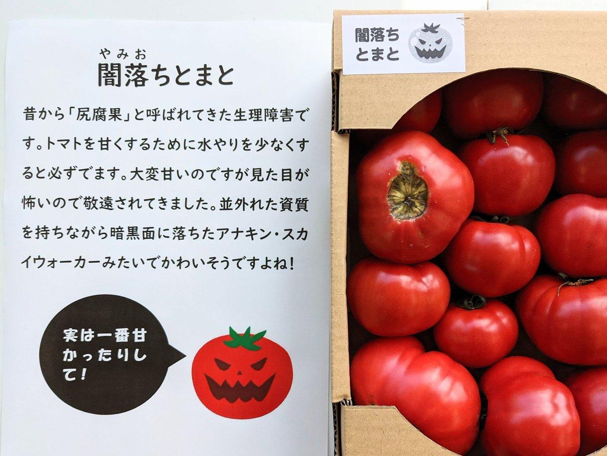 実は、最高に甘いトマトは尻腐れがある「闇落ちトマト」にしたら、激売れした!