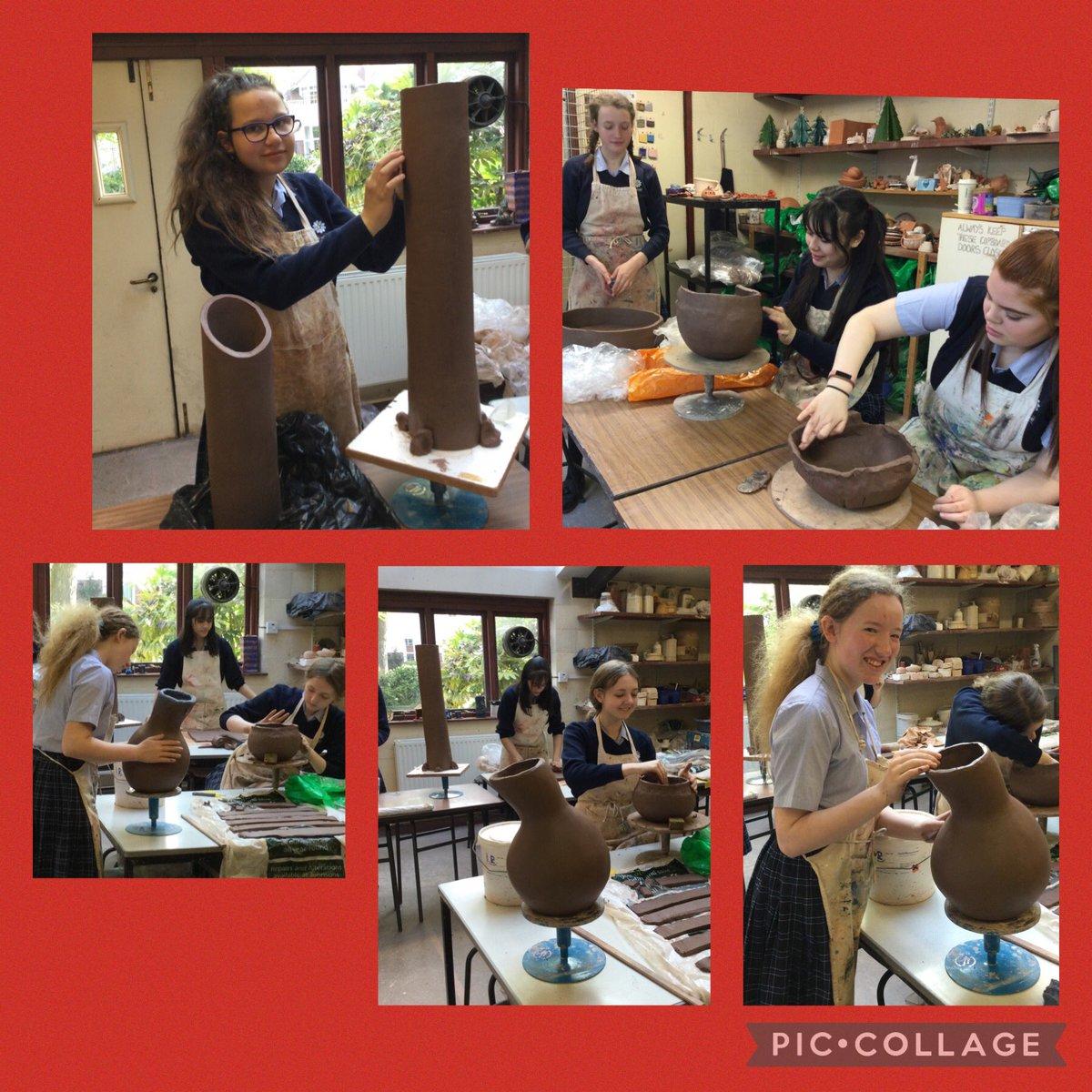 Wow! Year10's ceramics project in progress today. Looking great girls! @MountSchoolYork @SchoolMountArt @MountSchAssoc #art #schoolart https://t.co/YfxM4ZgqfU