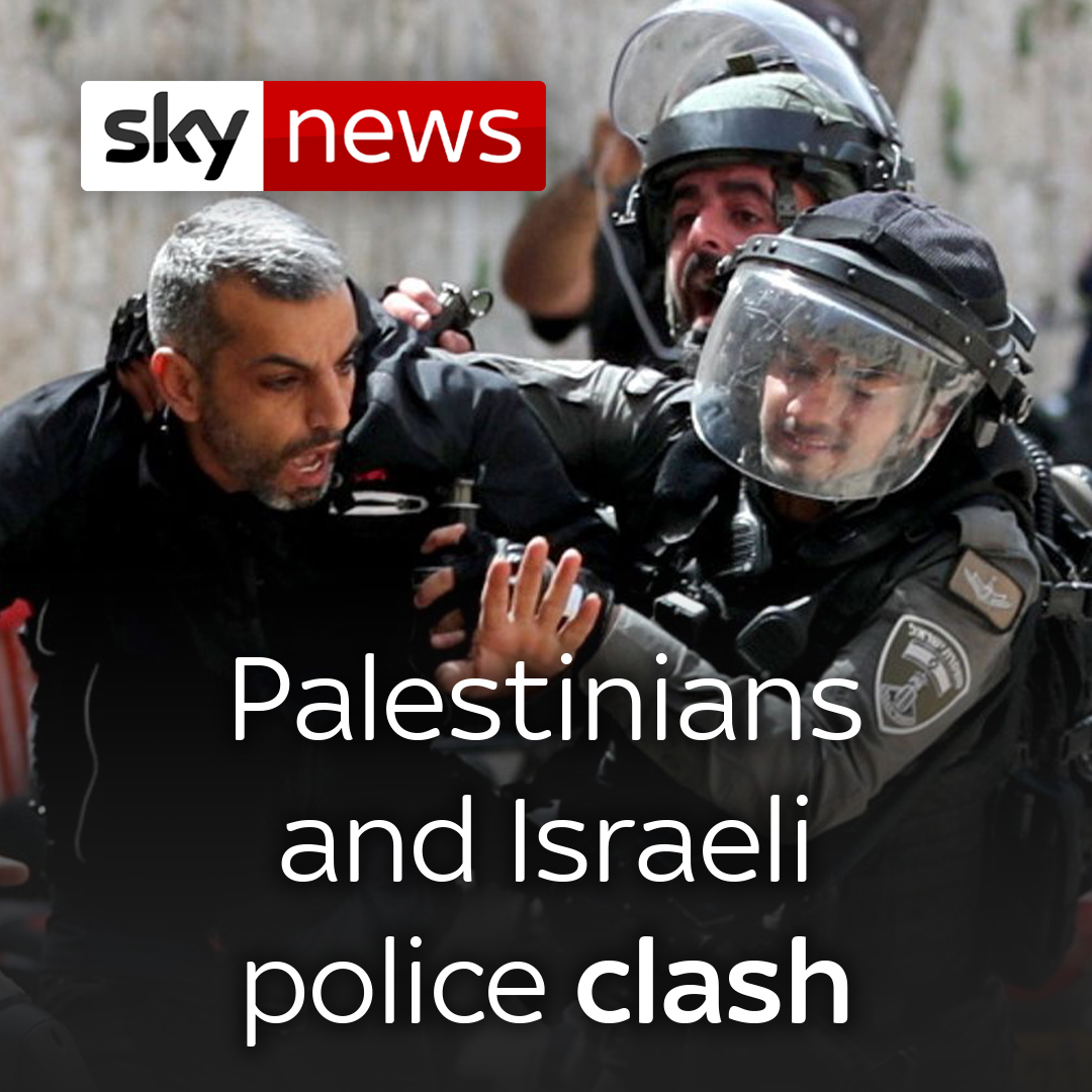 Palestinians and Israeli police clash at al-Aqsa mosque on what Israelis call Jerusalem Day.  Read the latest here: