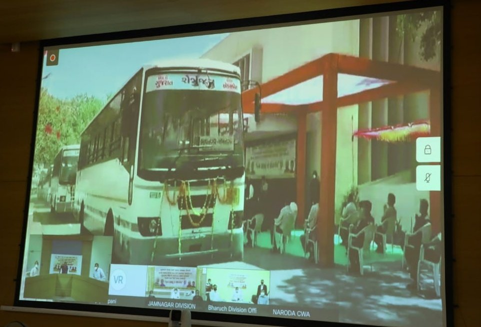 100 new GSRTC buses compliant with BS6 emission norms flagged off