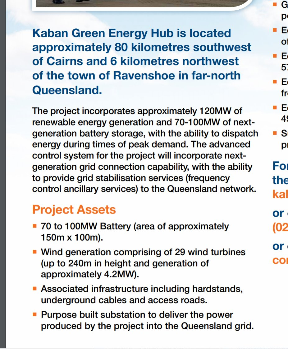 Anyway, the good folks at  @NEOEN_Energy explain exactly what the BESS (battery energy storage system) at Kaban is meant to do. It's straightforward: peak demand energy and assisting with grid stabilisation in QLD. https://es-analytics.com/wp-content/uploads/Development-2000437.pdf