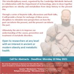 Image for the Tweet beginning: The deadline for abstracts for