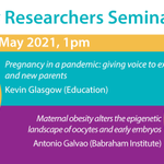 Image for the Tweet beginning: THURSDAY 13 MAY, 1pm:  'Pregnancy in
