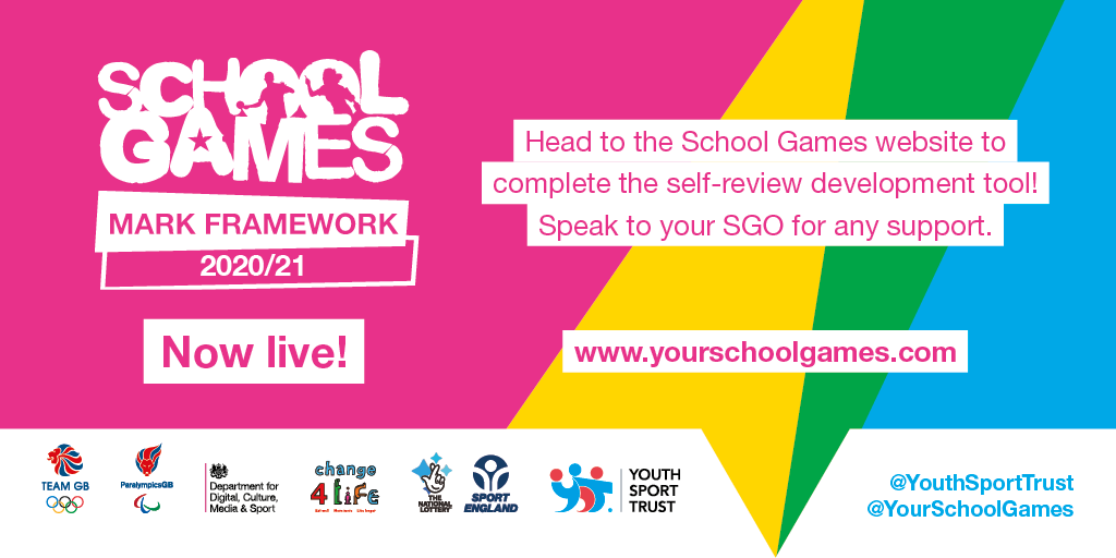 RT @YourSchoolGames: Don't forget the School Games Mark Framework is live on dashboards for schools. ☑️   This self-review development tool can be discussed with your SGO. Why not get in touch with them to find out more? 💭   Visit the website: https://t.co/33LDzNMEQd