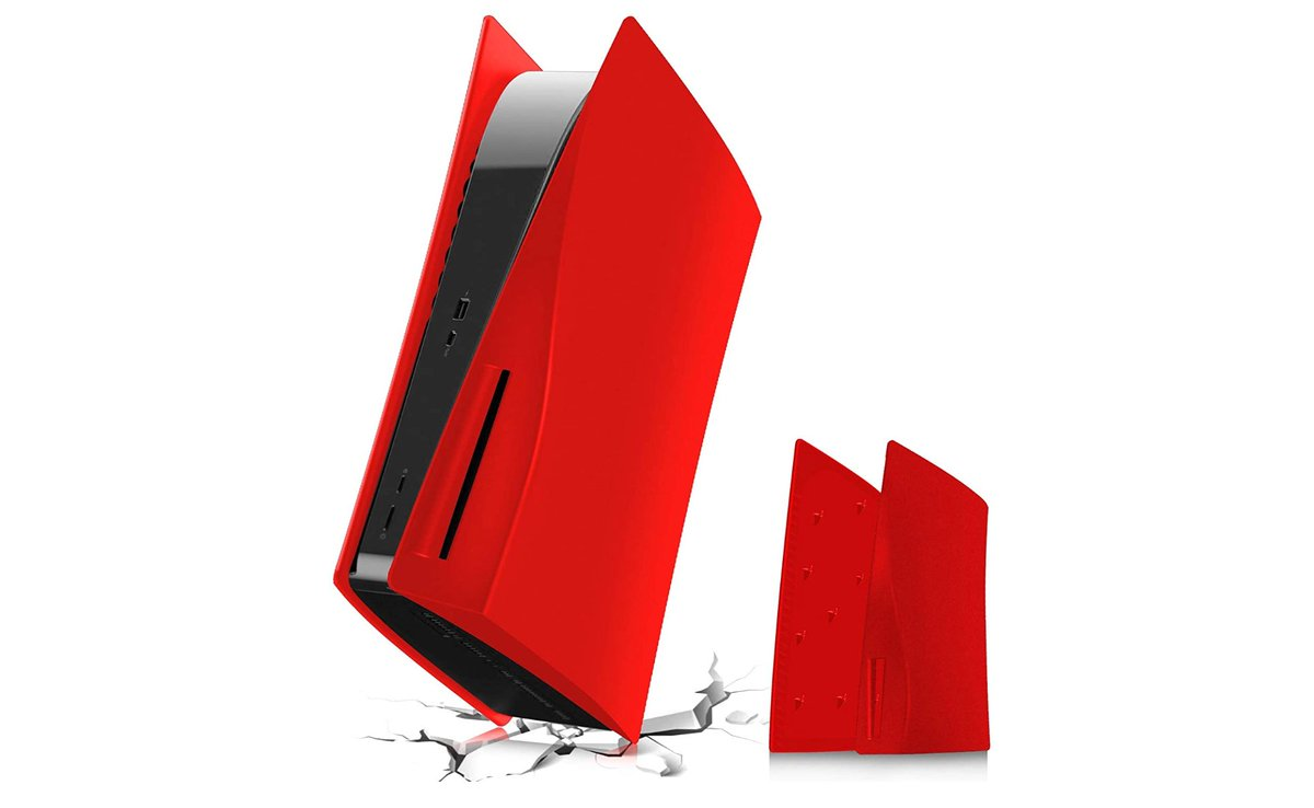 Red Replacement Plates for PS5 Disk Version Console  Price $46.99  Deal $43.49  Amazon USA