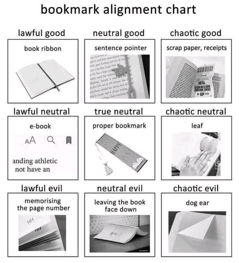 Chaotic good. In bookmarks and in life.