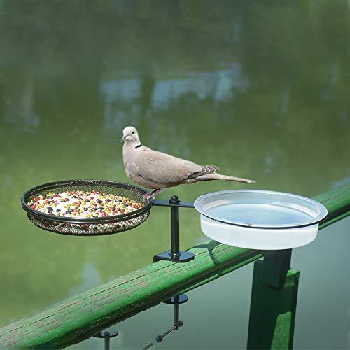 Deck Mounted Bird Feeder Tray and Bird Bath  code: 49DECKBIRD.      2