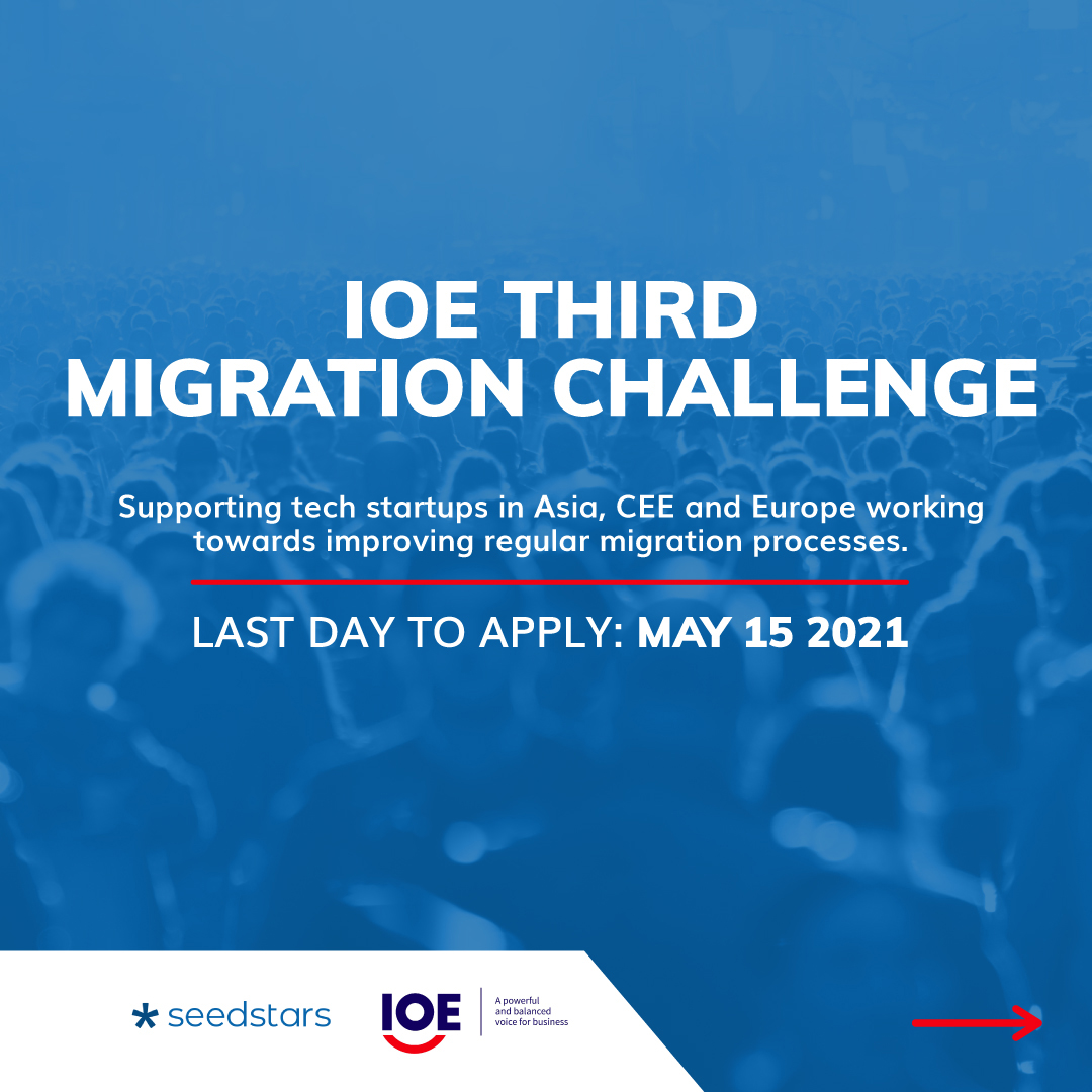 5⃣ more days to apply for IOE-@Seedstars #MigrationChallenge! Looking forward to learning about innovative #tech #startups in Asia, Europe & CEE that promote #skillsmobility and regular pathways for #migration 👉🏽 https://t.co/am0RuX4n5m https://t.co/L1YNnaSGhE