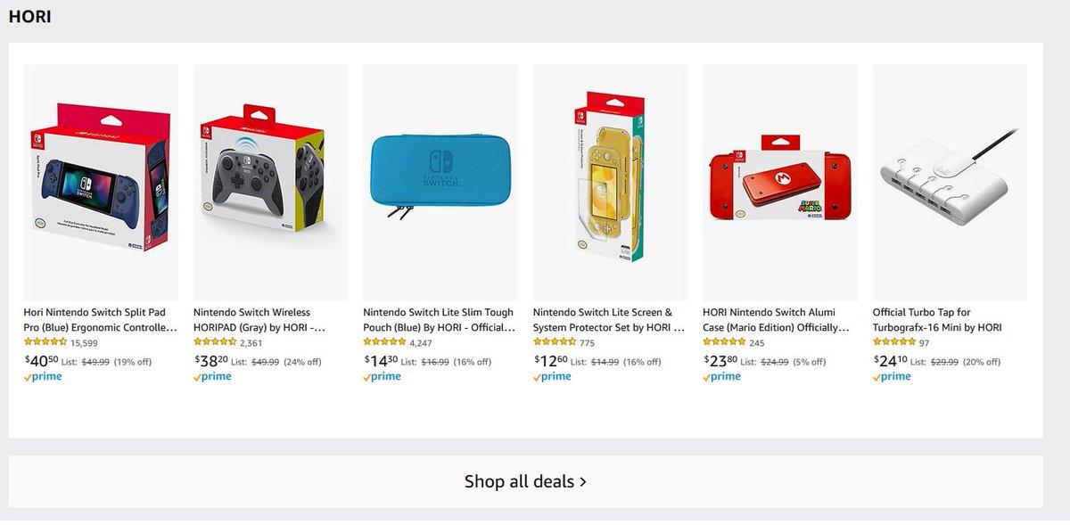 HORI Accessory Sale via Amazon (Prime Eligible). 2