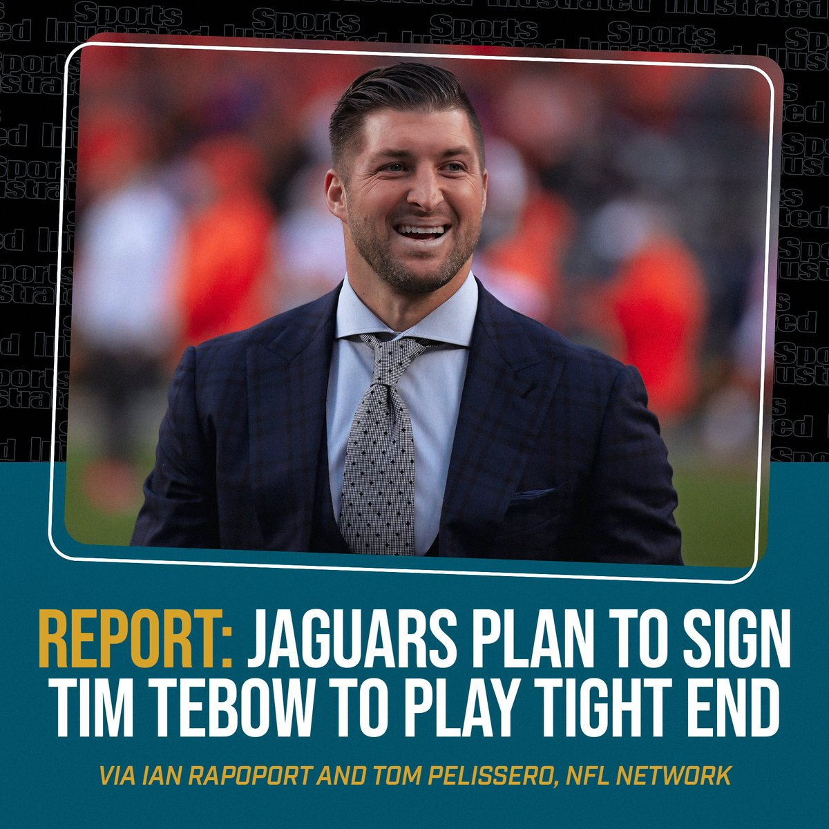 🚨 IT'S HAPPENING 🚨  Tim Tebow is reportedly expected to reunite with Urban Meyer on the Jaguars as a tight end, per @RapSheet and @TomPelissero https://t.co/mSUrJ4rD6o