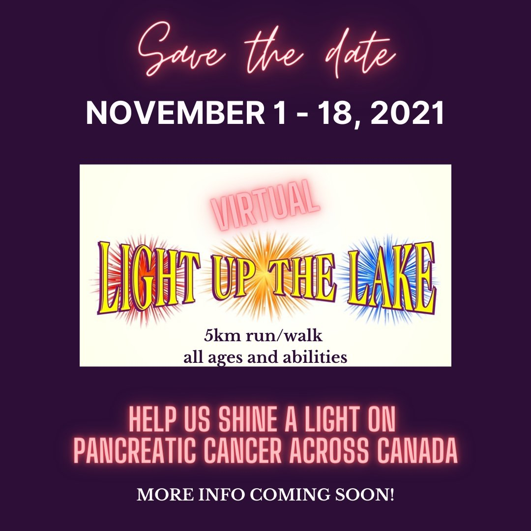 SAVE THE DATE!!!!  . . . . . . . . #PancreaticCancer #5K #LUTL #LightUpTheLake #Walk #Run #Canada #ItsAboutTime #RunningRoom #ShineALight #PancreaticCancerAwareness