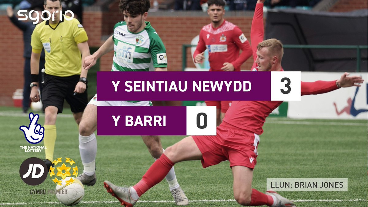 Image for the Tweet beginning: Uchafbwyntiau | Highlights  @tnsfc 3-0 @BarryTownUnited
