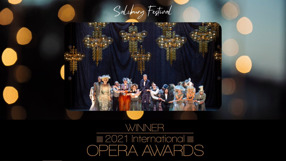 """Salzburg Festival on Twitter: """"""""It is a beautiful thing to win another Opera  Award. Such a distinction lends us courage and energy in times that rob us  of both,"""" says Festival President"""