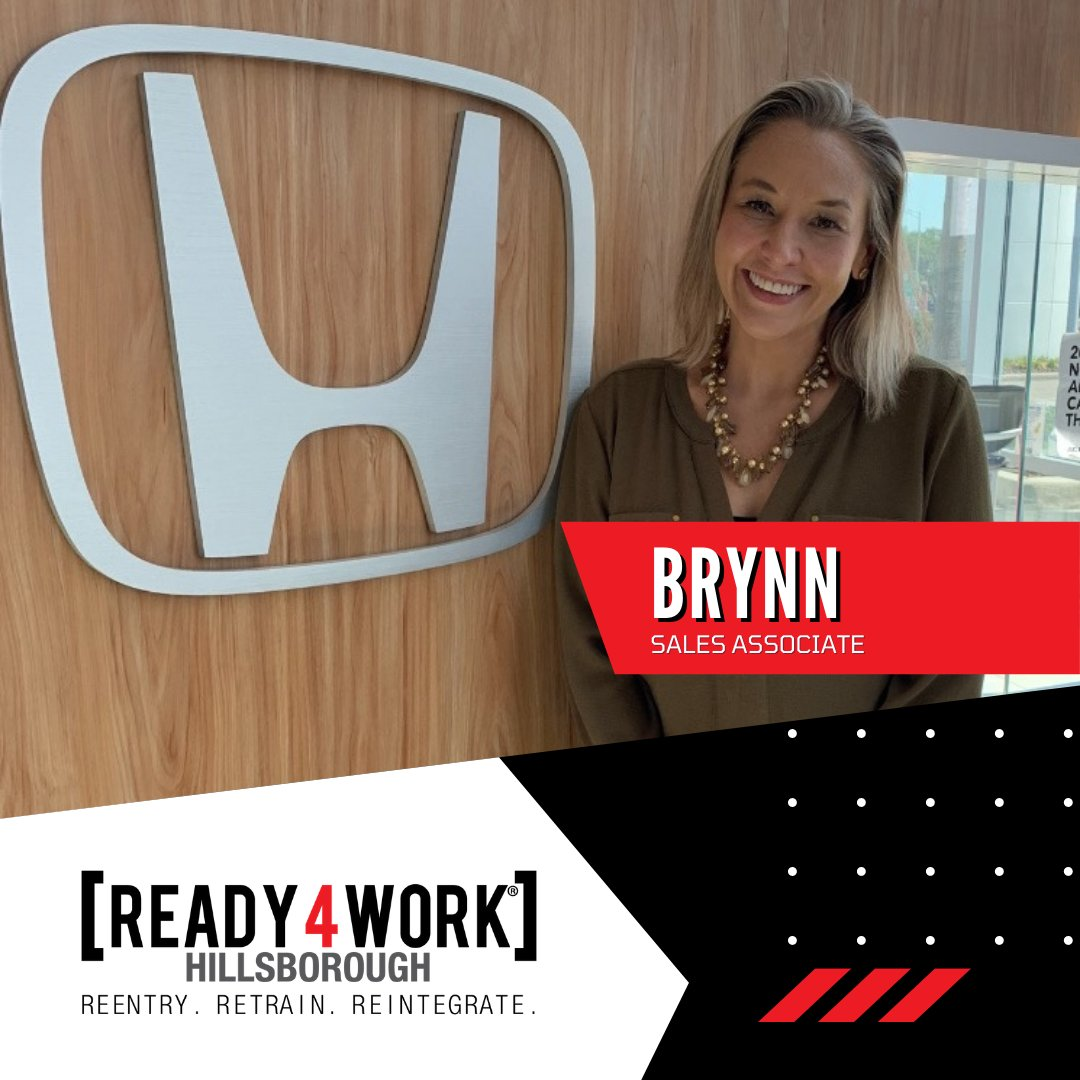 #Congratulations, Brynn, and thank you @Honda for giving her a #secondchance. 👏👍