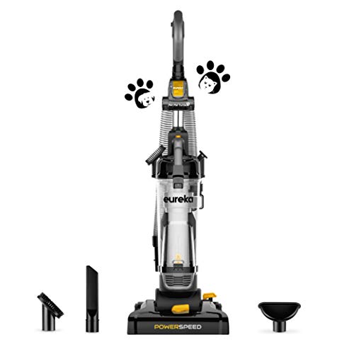 2 Eureka PowerSpeed Bagless Upright Vacuum Cleaner, Pet Turbo, Black
