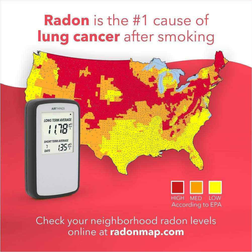 Corentium Home Radon Detector by Airthings 223 Portable,    --  2