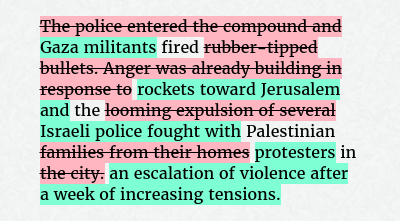 Before: The police entered the compound and fired rubber-tipped bullets. Anger was already building in response to the looming expulsion of several Palestinian families from their homes in the city. After: Gaza militants fired rockets toward Jerusalem and the Israeli police fought with Palestinian protesters in an escalation of violence after a week of increasing tensions.
