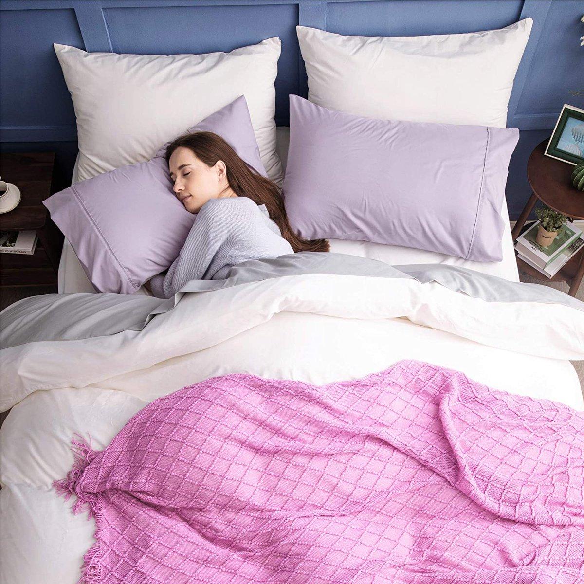 Bedsure 2 Pack Microfiber Pillowcases, Envelope Closure $7   2