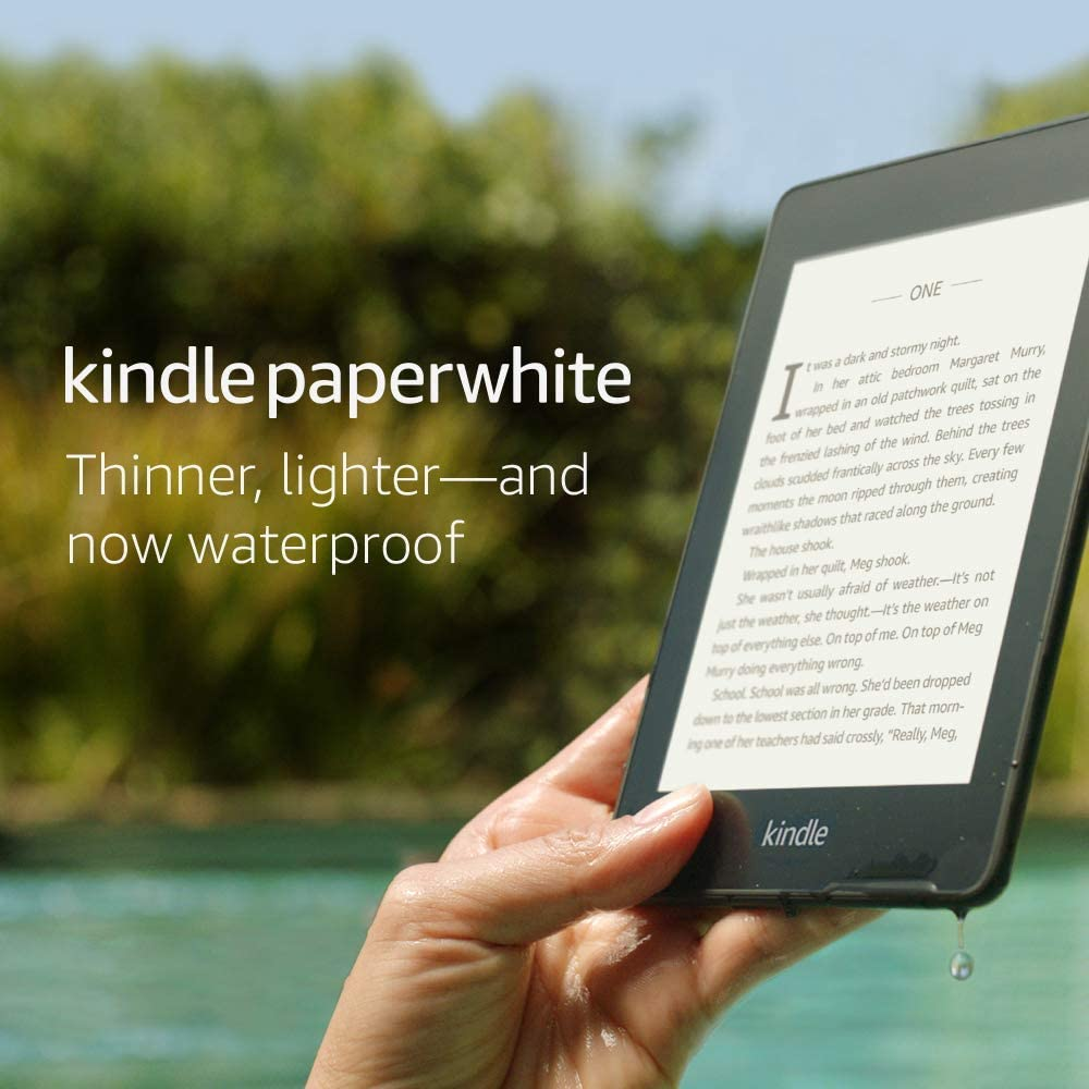 Kindle Paperwhite – Now Waterproof with 2x the Storage – Ad-Supported    2