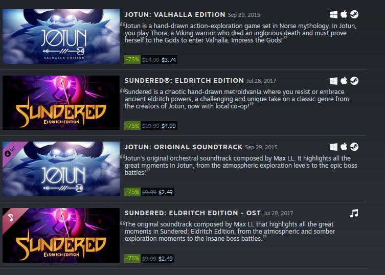 (PCDD) Thunder Lotus Games Sale via Steam. 2