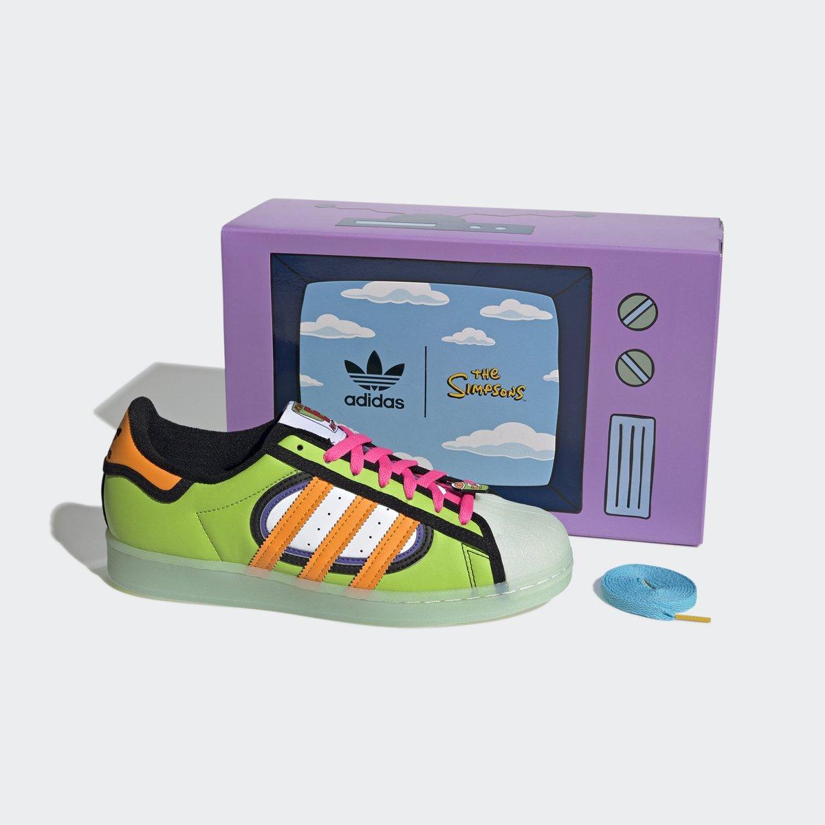 Restocked on @footlocker. @TheSimpsons x adidas Superstar. —