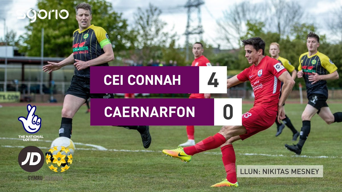 Image for the Tweet beginning: Uchafbwyntiau | Highlights  @the_nomads 4-0 @CaernarfonTown