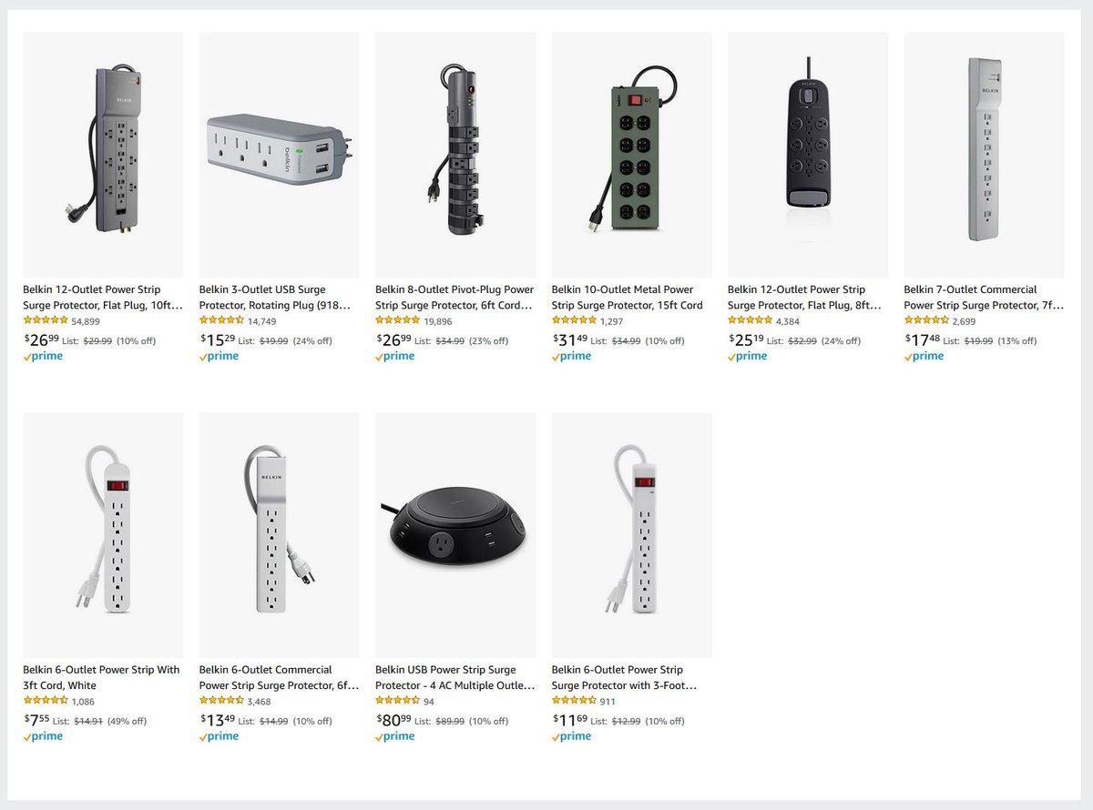 Belkin Surge Protector & Outlets Sale via Amazon (Prime Eligible). 2
