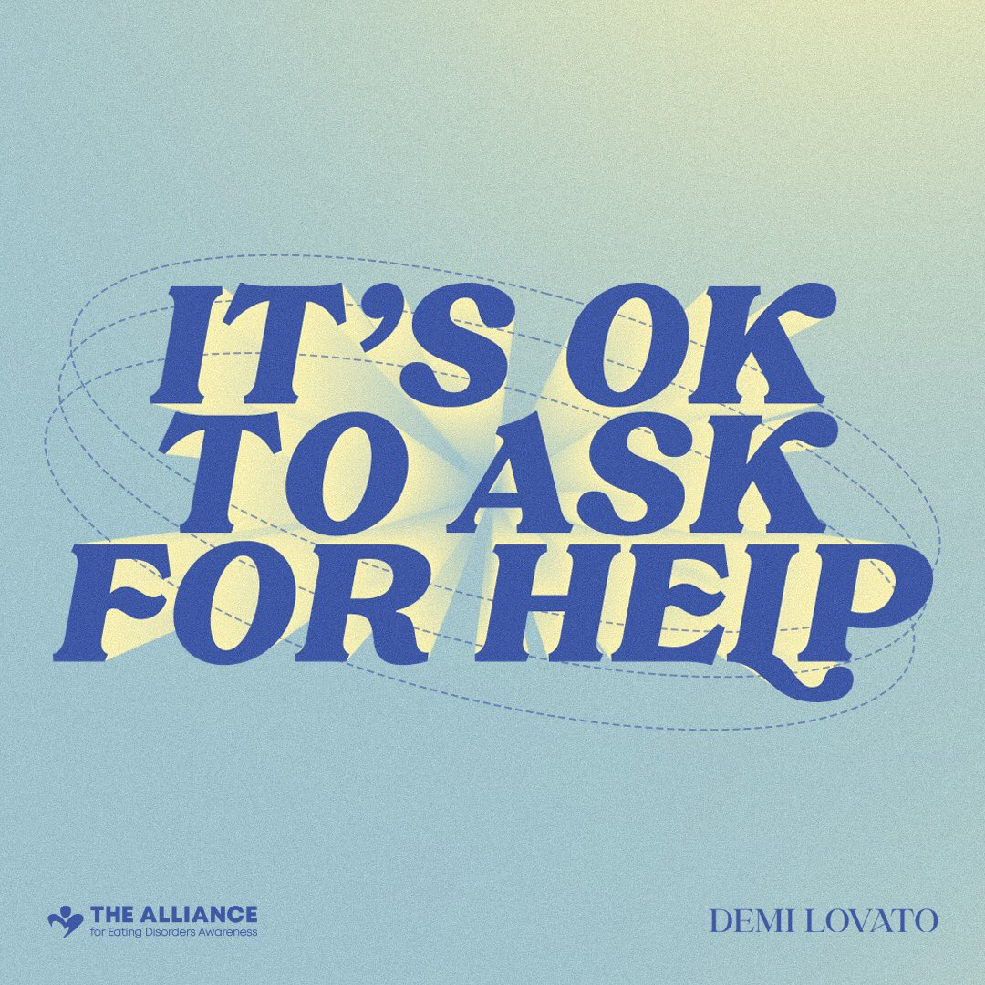 Thank you @ddlovato for continuing this conversation around this insidious disease, spotlighting resources for help and support, and reminding everyone that it's okay to ask for help. 💙