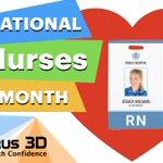 Image for the Tweet beginning: Happy National Nurses Month! Nurses