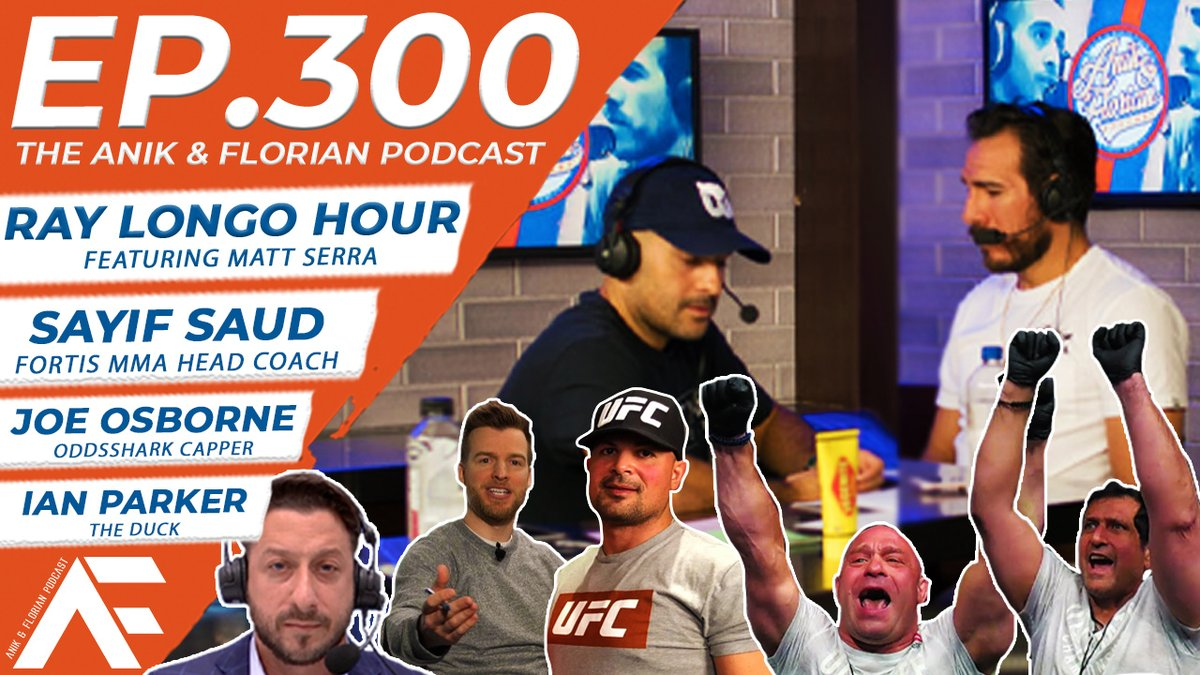 EP. 300 of the @Jon_Anik & @kennyflorian Podcast!  We talk last weekend's #UFCVegas26 event before a spin-forward to #UFC262 with surprise appearances galore!  🥊: @raylongomma & Matt Serra 💰 : @JTFOz - @OddsShark  🦆 : @IanParkerMMA  🟢: @sayif_saud    https://t.co/Zws9lv7Of4 https://t.co/ErmDCAH1vP