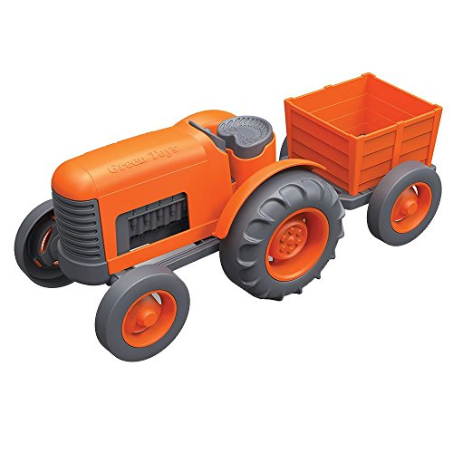 2 Green Toys Tractor Vehicle, Orange