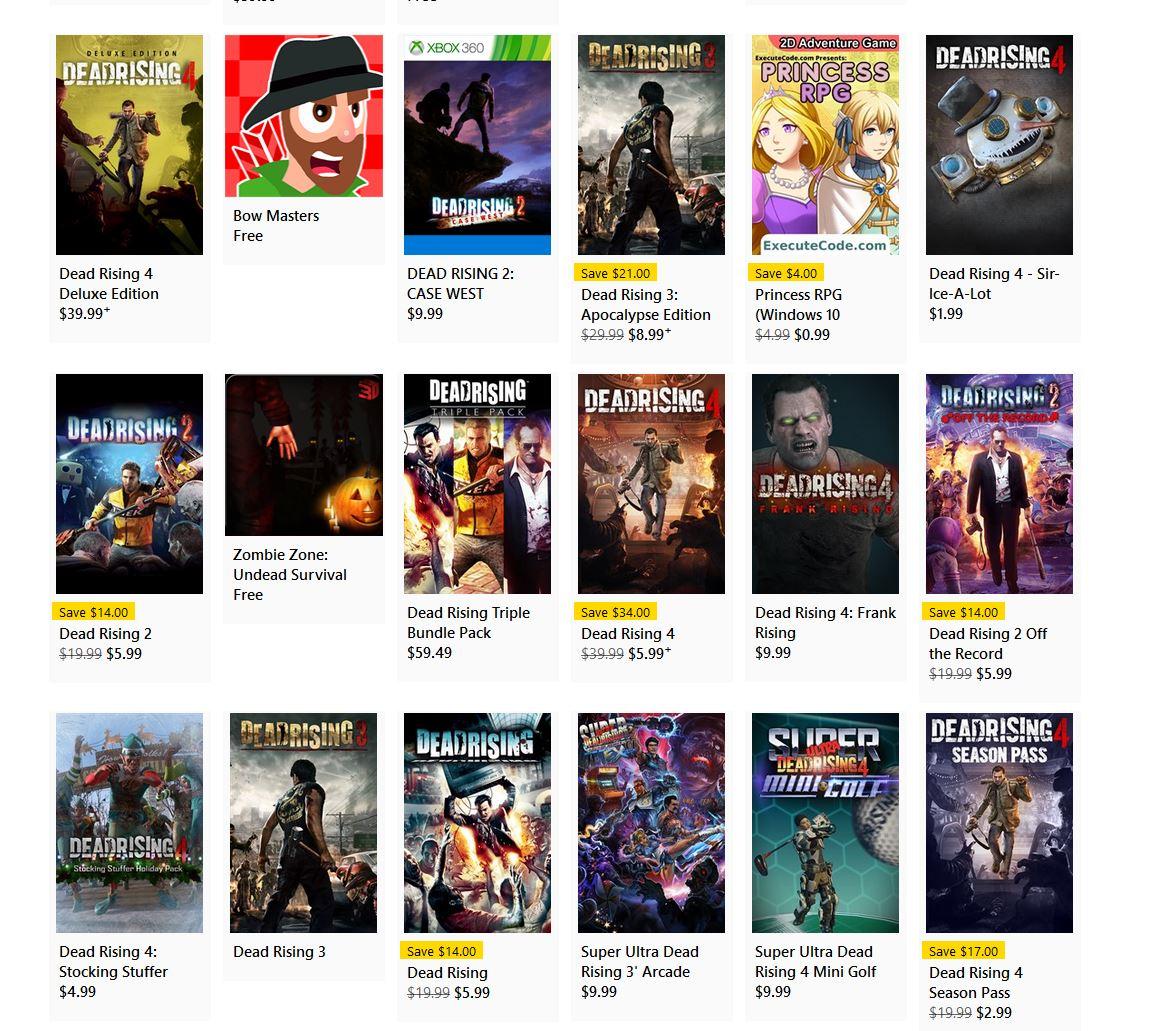 Dead Rising Sale via Xbox. 2