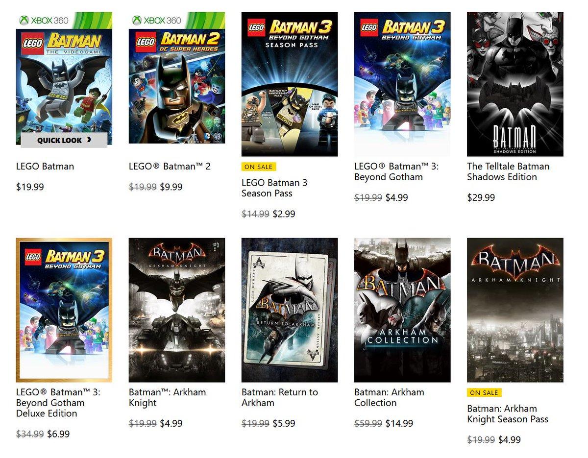 Batman Sale via Xbox.