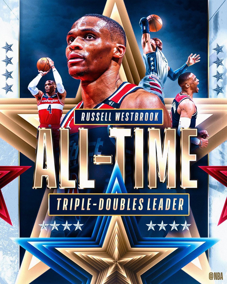 The NBA's new all-time triple-double 👑. https://t.co/1oRS3CwTia