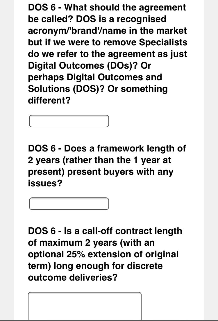 DOS 6 - great to see @gov_procurement leading user research for next DOS iteration. Kudos for taking time to listen to users, process needs & construct user-centred routes to market. Designing procurement 'things' based on the needs of (real) users is the bedrock to procurement.