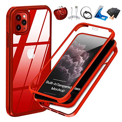 2 UBUNU Tempered Glass Screen Protector Case for iPhone 11 Pro Max