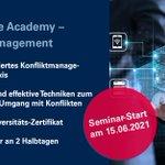 Image for the Tweet beginning: Governance Academy – Konfliktmanagement  Lösungen