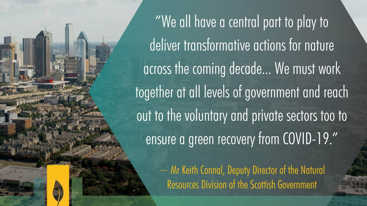 """RT @CitiesWNature For #BiodiversityDay, we need to realize the central part we all have to play #ForNature!  """"We must work together at all levels of government... [& reach out to more sectors] to ensure a green recovery from #COVID19."""" - @kaconnal, @scotgov   #COP15 #GenerationRestoration"""