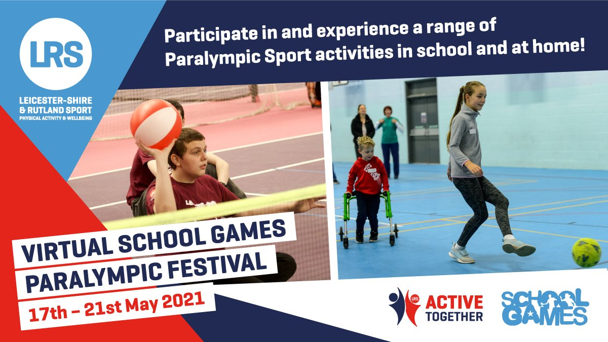 RT @LR_Sport: Our Virtual School Games Paralympic Festival gets underway on Monday!🏅😃 Join us for the opening ceremony via zoom at 10am led by Paralympian, Dan Powell! Make sure you register your school for the ceremony before 5pm Friday 14th May here➡️https://t.co/WsuVbCp90s #LRSchoolGames