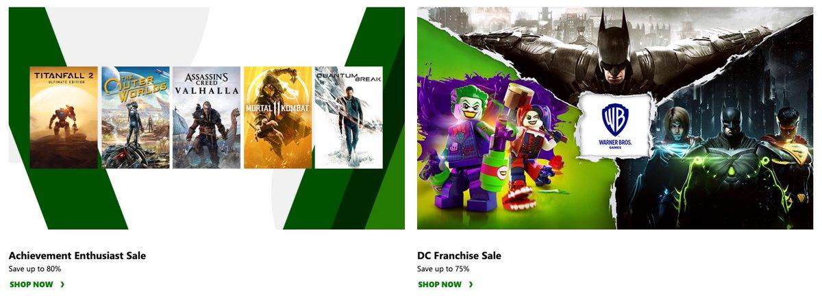 Achievement Enthusiast Sale Link0 DC Franchise Sale Link1 on XBL