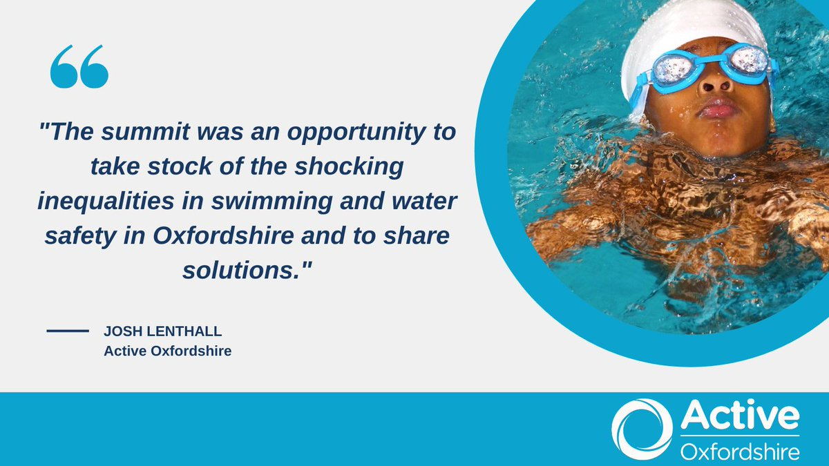The #Oxfordshire Water Safety & Swimming Summit showcased @Cherwellcouncil & Legacy Leisure, @OxfordHub & @aboveanywater who are tackling barriers that mean only 25% of children in some parts of Oxfordshire are able to swim. Read here: https://t.co/sLgUoZ6I59