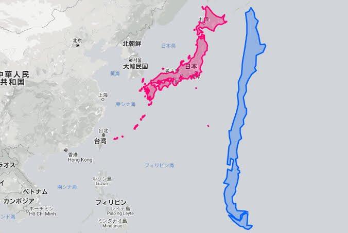 南米のチリ、意外と太くて縦長な国だった、面積は日本の2倍!